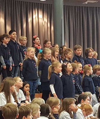 Chor-AG beim großen Chorfest
